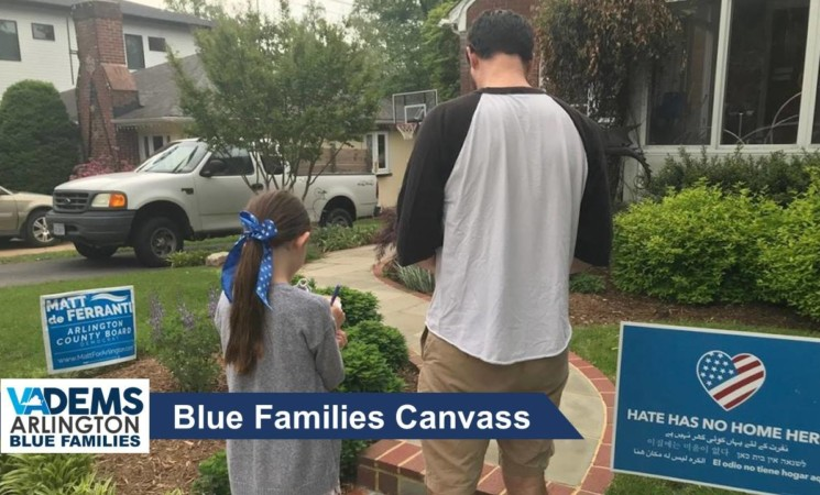 Blue Families Twilight Canvass