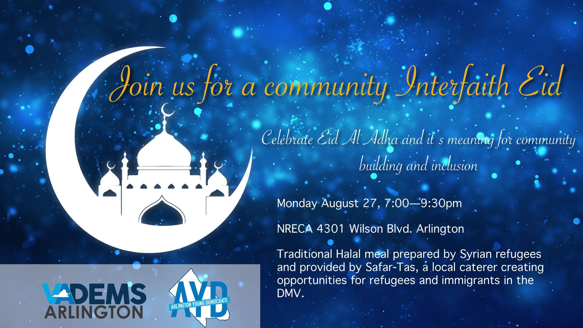 Arlington Democrats Host Interfaith Eid Celebration