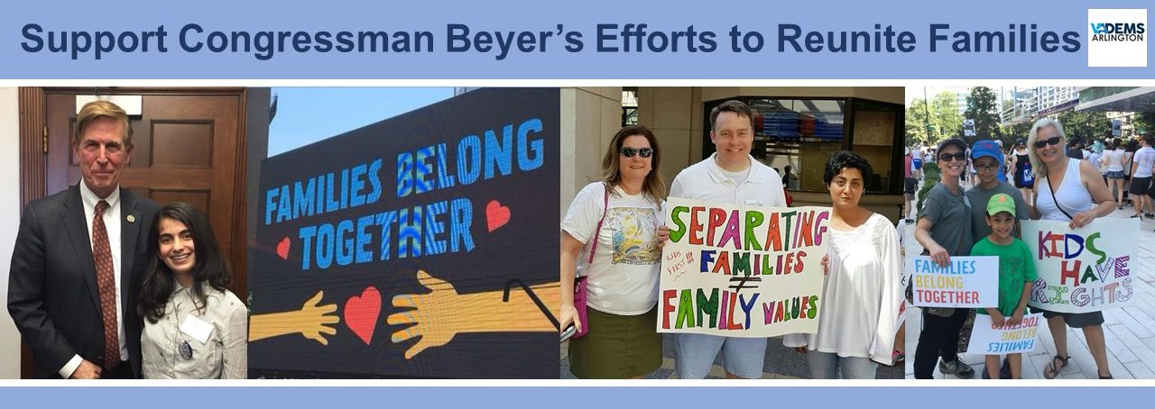CALL TO ACTION: Support Don Beyer's Efforts to Reunite Families