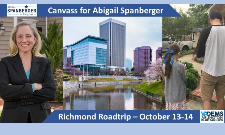 Blue Families Weekend Canvass for Abigail In Richmond