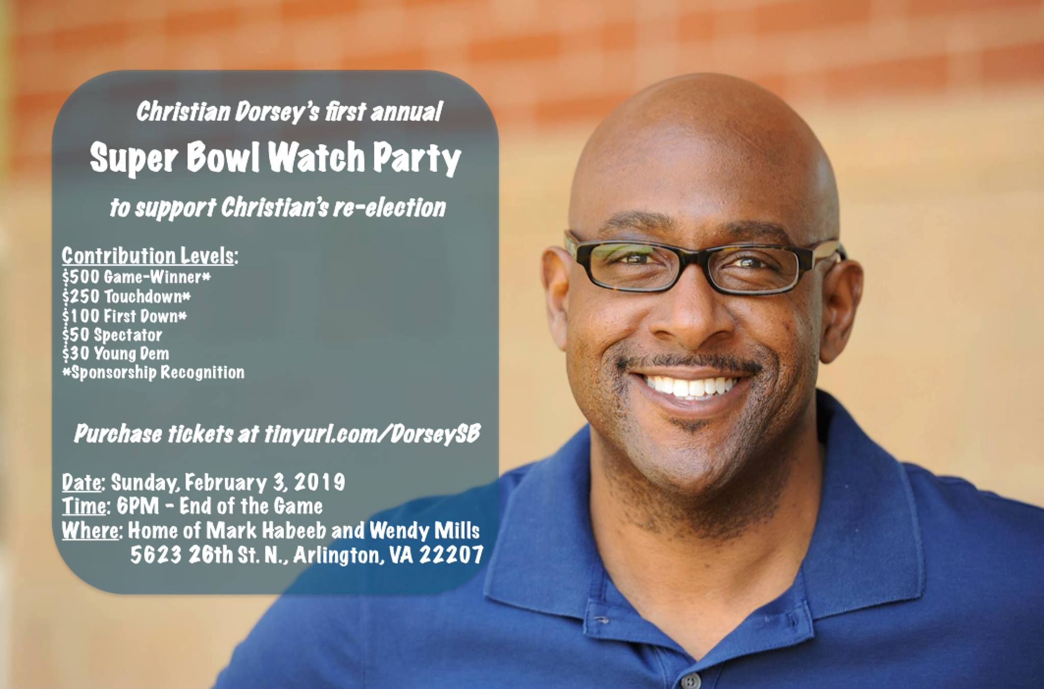 Christian Dorsey's Super Bowl Watch Party