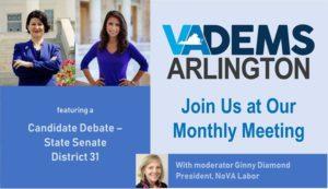 Arlington Dems Monthly Mtg & Candidate Debate-State Senate 31 @ Francis Scott Key Elementary School (Arlington, Virginia) | Arlington | VA | United States
