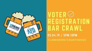 Voter Registration Bar Crawl @ Clarendon, Virginia | Clarendon | VA | United States