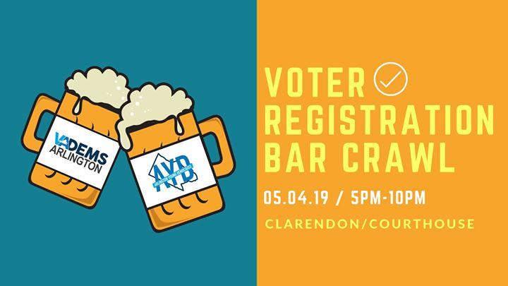 Voter Registration Bar Crawl