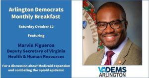 Arlington Dems - October Breakfast with Marvin Figueroa @ Busboys and Poets Shirlington | Arlington | VA | United States