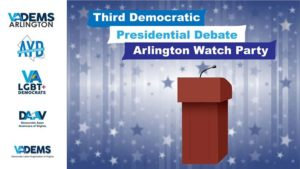 Arlington Dems 3rd Presidential Debate Watch Party! @ Busboys and Poets Shirlington | Arlington | VA | United States