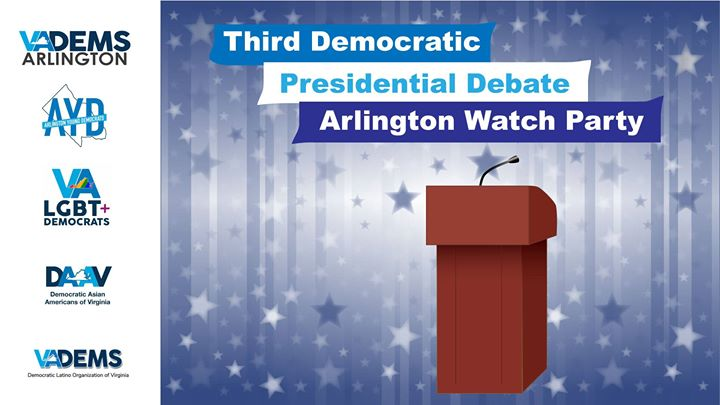 Arlington Dems 3rd Presidential Debate Watch Party!