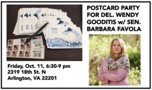 Blue Families Postcards for Wendy w/Sen. Barbara Favola