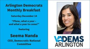 Arlington Dems - December Breakfast featuring Seema Nanda @ Busboys and Poets Shirlington | Arlington | VA | United States