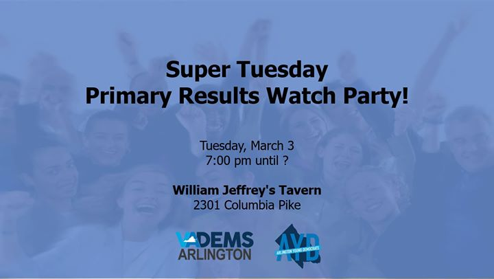 Super Tuesday Primary Results Watch Party!