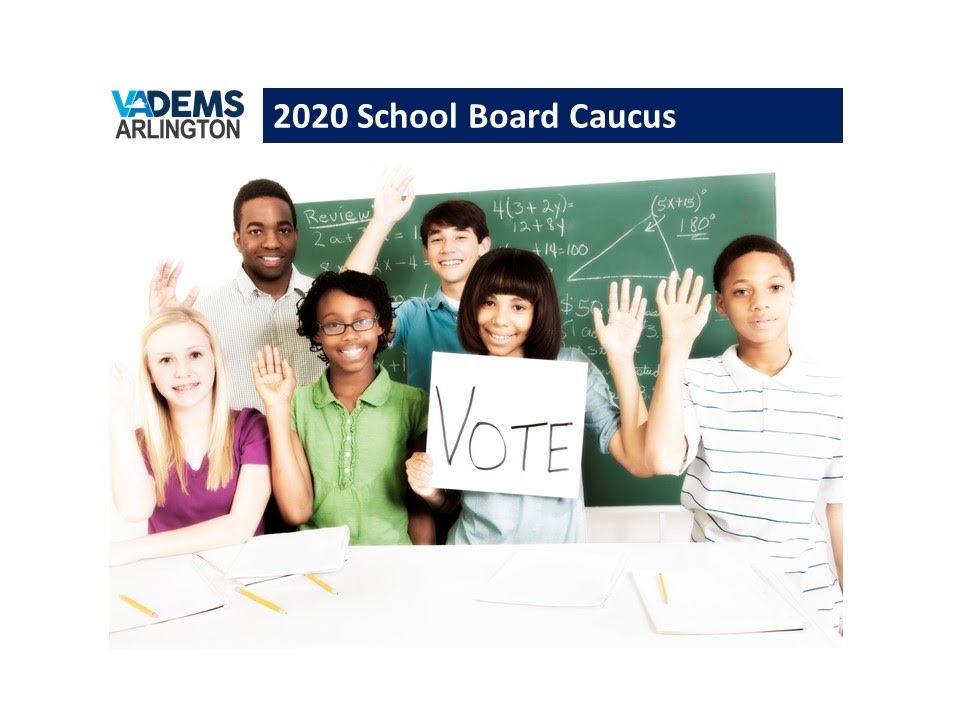 In Response to Coronavirus Pandemic, Arlington County Democratic Committee Launches Vote-by-Mail for  School Board Endorsement Caucus