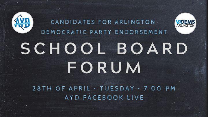 AYD & Arlington Dems School Board Forum