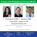 Joint Fundraiser for Democratic Endorsed School Board Candidates @ Virtual - Zoom information with RSVP