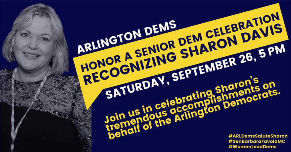 Michigan Congresswoman Debbie Dingell to Join Arlington Dems in Honoring Longtime Capitol Hill Staffer and Democratic Political Activist Sharon Davis