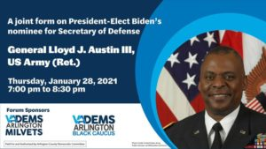 A Forum on the First Black Secretary of Defense with the Black and MilVets Caucuses