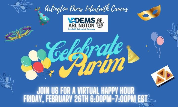 Arlington Dems Interfaith Caucus-Virtual Purim Celebration