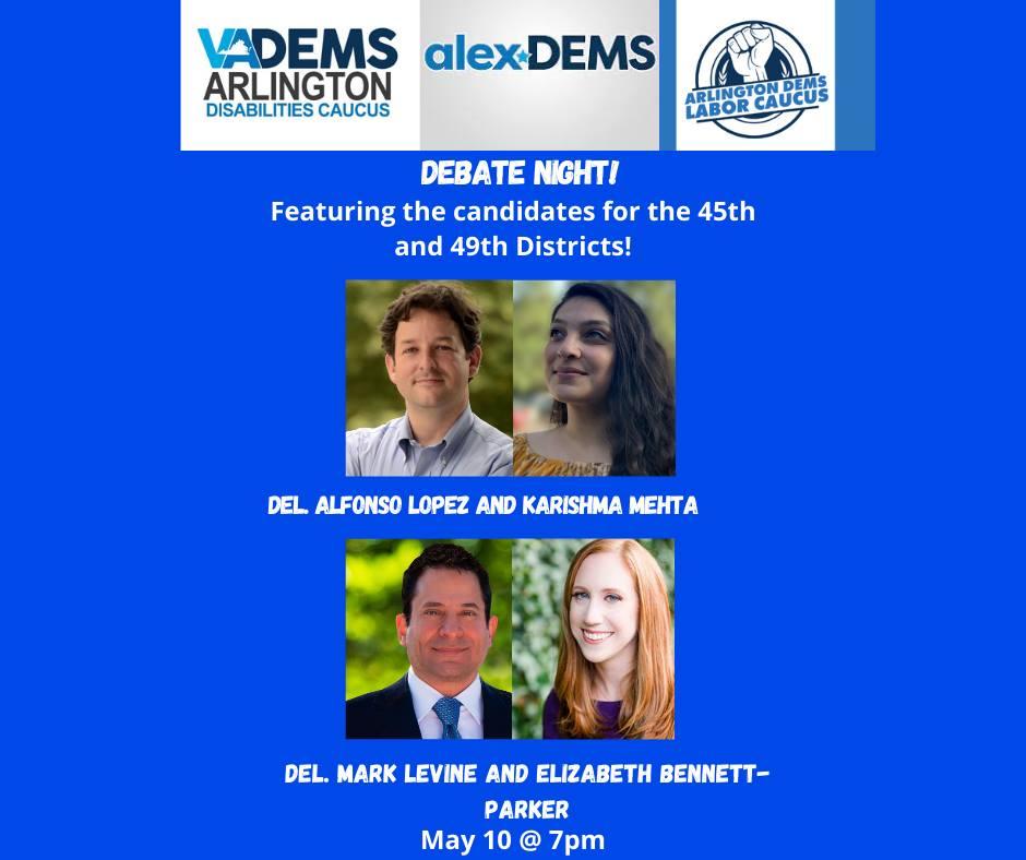 House of Delegates Democratic Candidate Debate