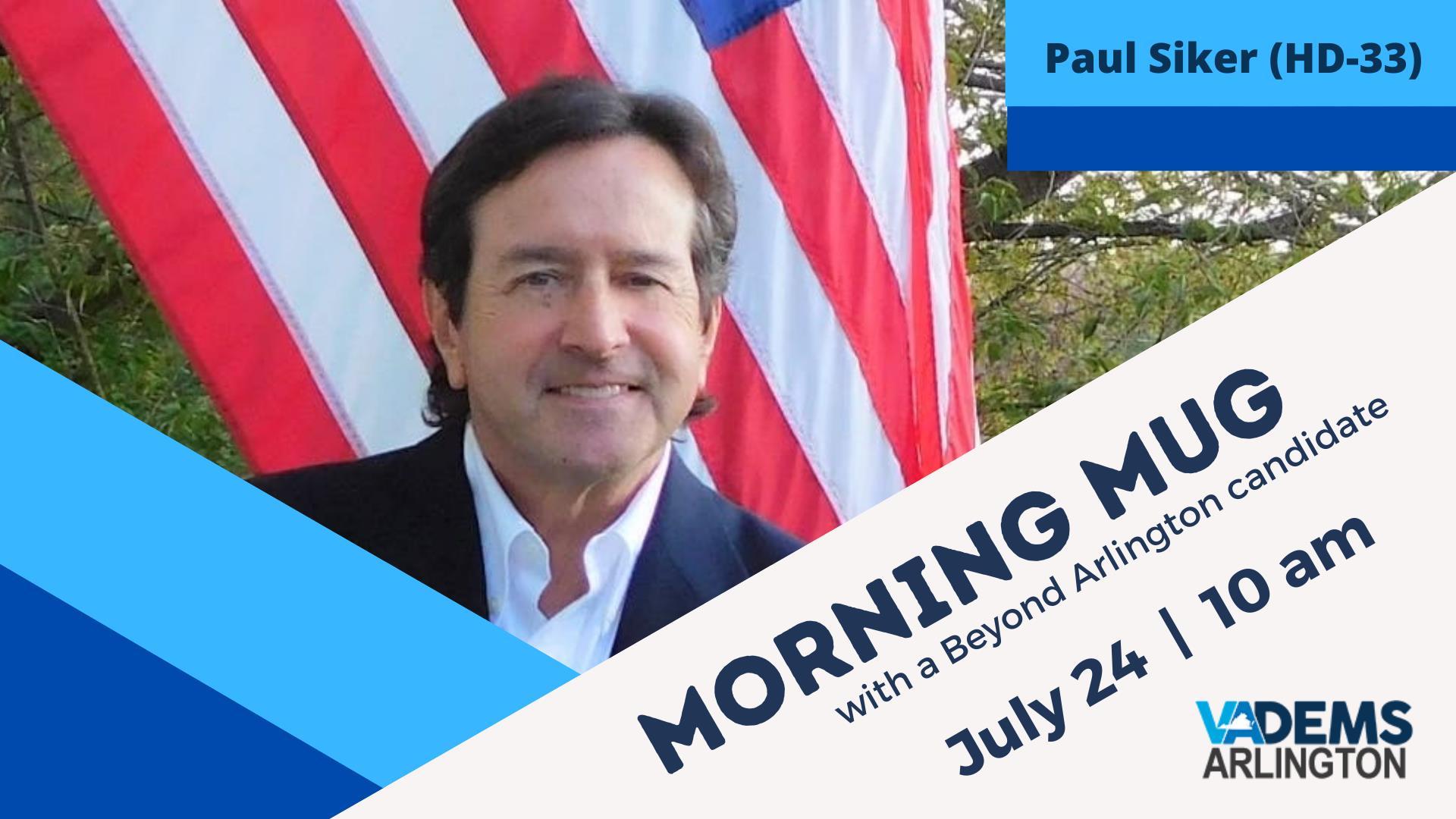Taza de la mañana con el candidato de HoD Paul Siker