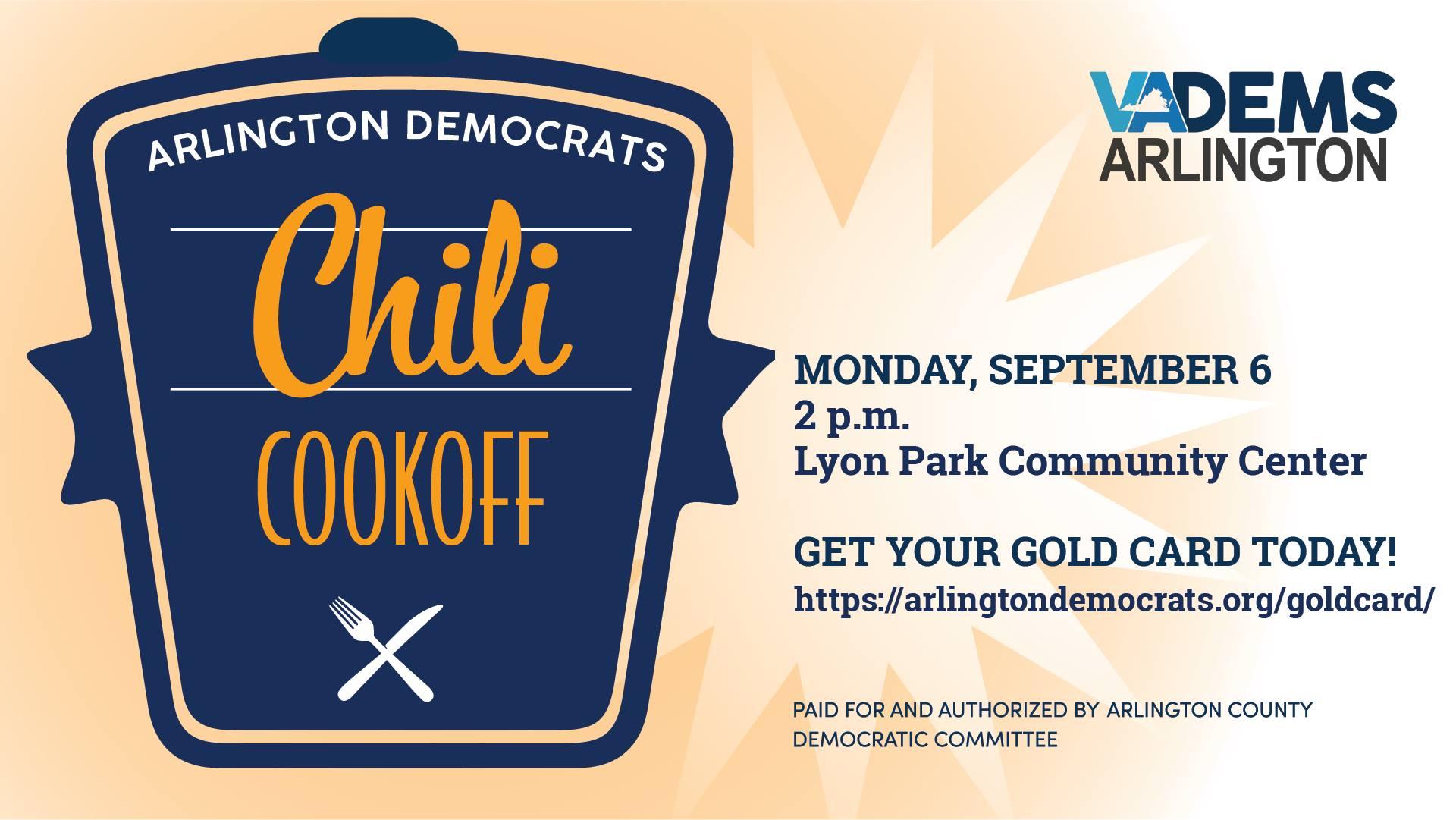 Arlington Dems Chili Cook-Off! @ Centro Comunitario de Lyon Park | Arlington | VA | Estados Unidos