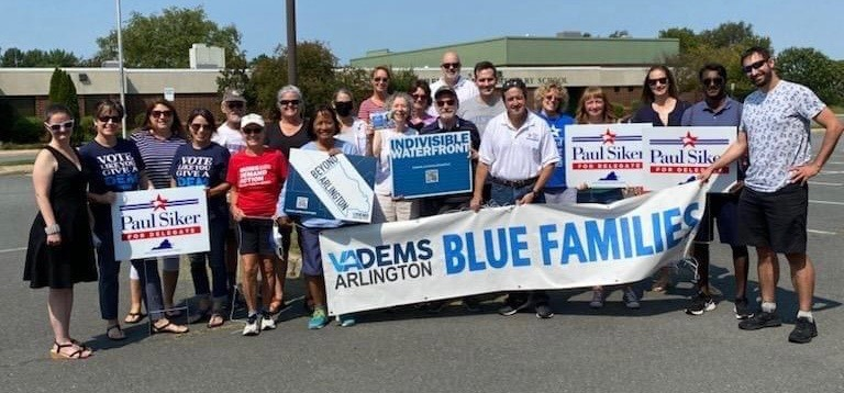 Beyond Arlington, Blue Families & Indivisible Waterfront Canvass for Paul Siker