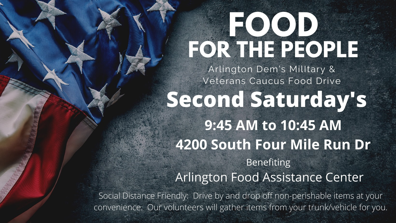 Food For the People: Monthly MilVets Food Drive