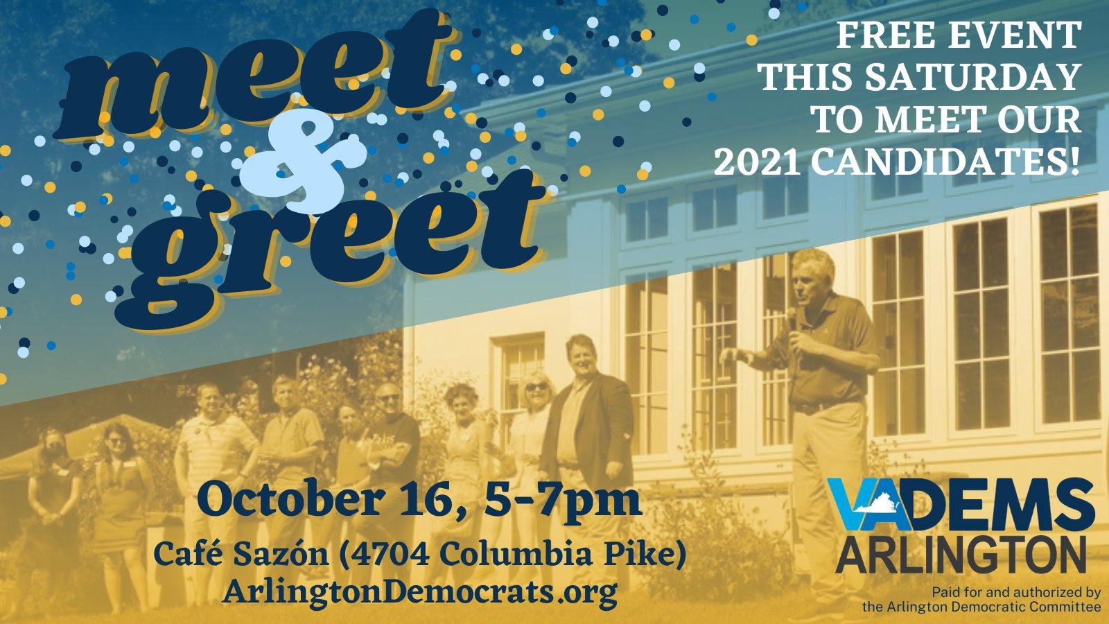 Arlington Dems' Candidate Meet & Greet!
