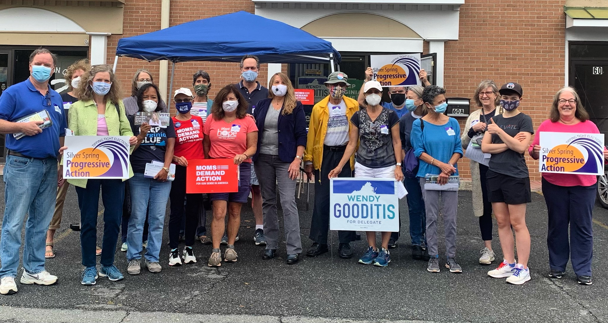 Beyond Arlington & Indivisible Waterfront Canvass for Wendy Gooditis