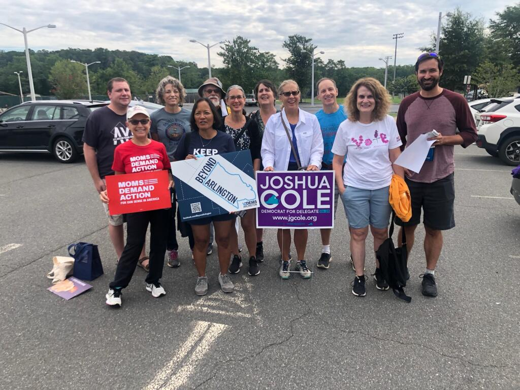 Beyond Arlington and Blue Families Canvass for Joshua Cole