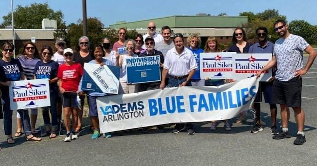 Beyond Arlington, Blue Families, Indivisible Waterfront Canvass for Paul Siker